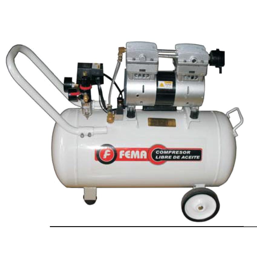 Compresor libre de aceite con tanque de 100 litros y 3hp for Aceite para compresor