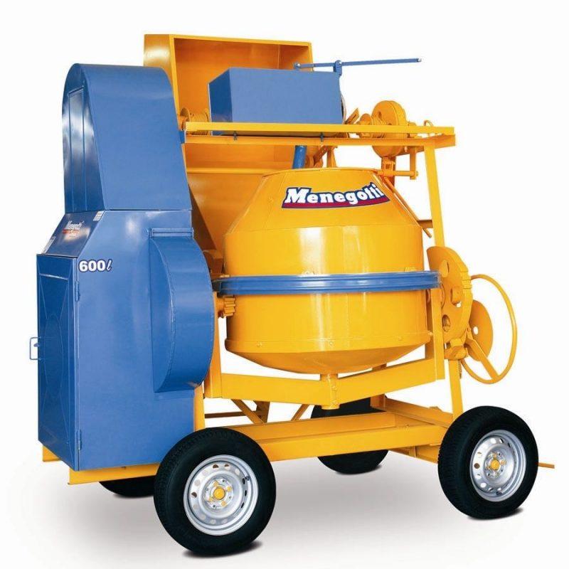 Hormigonera de Volteo 600 litros Con Tolva y Cargadora