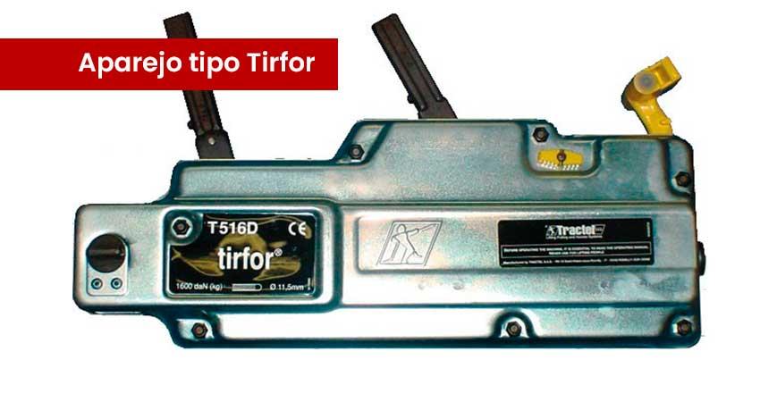 Qué es un aparejo tipo Tirfor y para qué sirve?